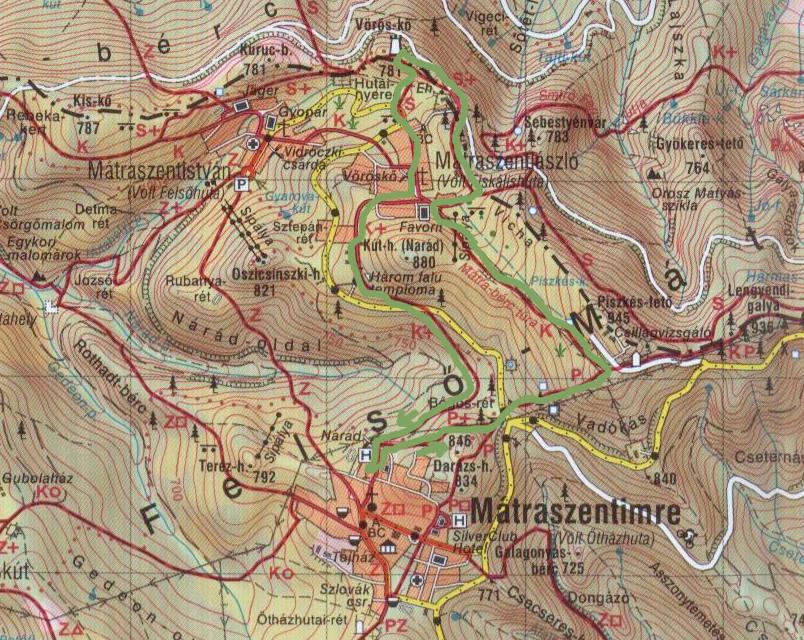 mátraszentimre térkép Unilever Tömegsport Szervezet Bakancsos Bagolyírtás túra 2014 mátraszentimre térkép